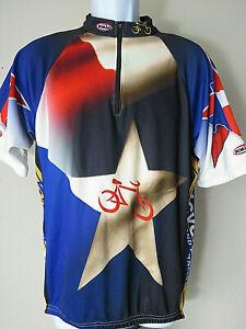 SHARP MT BORAH CYCLING JERSEY Texas Men's Lone Star Medium Custom red white blue