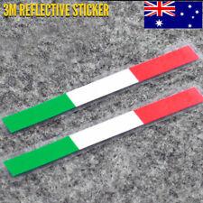 2 x ITALY Flag Motorcycle Bike Sticker 3M Reflective Vinyl 46 Valentino Rossi