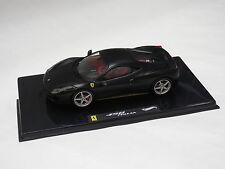Hotwheels Elite 1:43 Ferrari 458 Italia Matt Black X5503