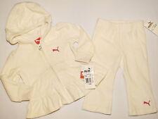 NWT PUMA hoodie jacket GIRL 2 PC size 24M  egret white