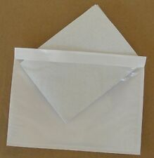 """7.5"""" x 5.5"""" Clear Adhesive Packing List Shipping Label Envelopes Pouches 50  Pcs"""