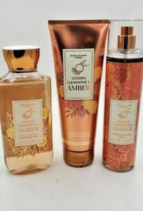 Bath and Body Works Golden Clementine & Amber Collection