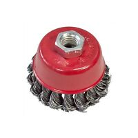 3'' 80mm Twist Knot Wire Cup Brush Wheel Rotary Cleaning Drill Rust Removal  New