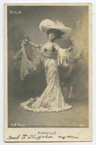 c 1903 Showgirl Music Hall Marville French Undivided Back photo postcard