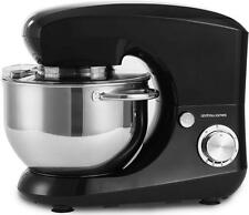 Andrew James Black Stand Food Mixer with 5.5L Bowl & 4 Mixing Attachments 800W