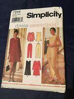 Simplicity 1990s Sewing Pattern Misses Petite Tunic,Dress,Pants Sz D 4,6,8 Uncut