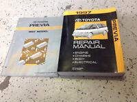 1997 Toyota PREVIA VAN Service Shop Workshop Repair Manual Set W EWD OEM