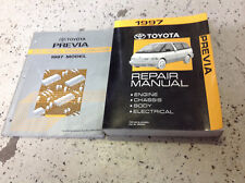 1997 Toyota PREVIA VAN Service Shop Workshop Repair Manual Set W EWD + Extra