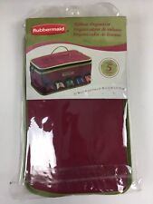 Rubbermaid Ribbon Organizer Holds 5 Rolls Carrying Tote Gift Wrap Storage New