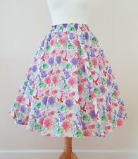 1950s Circle Skirt Hummingbirds - All Sizes - Purple Spring Floral Rockabilly