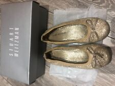 stuart weitzman girl shoes gold glitter size 31
