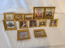 Vintage Mini Gold Plastic Frames Lot Of 12 5 Have Stands 7 Are For Hanging
