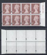 GB 1986/99 ☀ 5d Queen Elizabeth II. QEII Machin ☀ MNH block of 8 (unchecked)