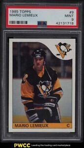 1985 Topps Hockey Mario Lemieux ROOKIE RC #9 PSA 9 MINT