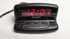 Sharp Alarm Clock Spc026A Digital Black with Red Display Tested and Works #4283