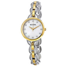 Bulova Women's 98L206 Diamond Markers Quartz Two Tone Bracelet Dress Watch