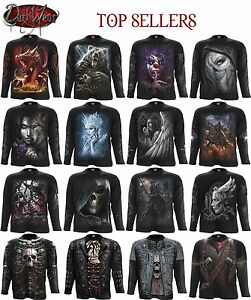 Spiral Direct Wolf/Loin/Gorilla/Wild/Tiger/Eagle/Music/Long Sleeve Tshirts/Top