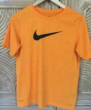 Nike Dri-Fit Boys Athletic Orange Short Sleeve Shirt Size Xl Excellent