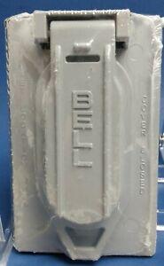 NEW Bell Weatherproof 5146-0 Gray Aluminum 1 GANG Duplex Receptacle Cover