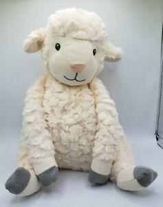 First Impressions Macys Lamb Cream Gray Plush Stuffed Animal Soft Baby Lovey