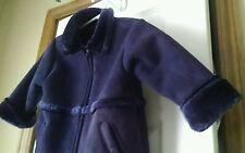 Purple baby gap girl 18-24 months fur & fleece zip up jacket coat Dressy & warm