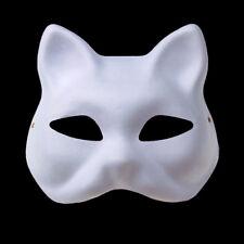 Japanese Anime Manga Cosplay Halloween Fox Mask Kitsune Hand-Painted White Embry