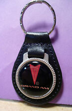 PONTIAC  GRAND AM  KEY CHAIN ~  BLACK LEATHER  FOB ~ VINTAGE  STYLE