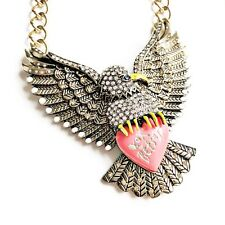 Betsey Johnson Indian Summer Huge Eagle Necklace Authentic NWT