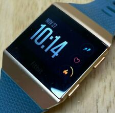 Fitbit Ionic FB503 Gold Tone Rubber Fitness Watch Activity Tracker Smartwatch