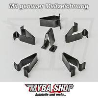 15x METALL HALTERUNG KLAMMERN KLEMME MUTTER AUDI VW SEAT SKODA