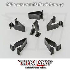5x METALL HALTERUNG KLAMMERN KLEMME MUTTER AUDI VW SEAT SKODA