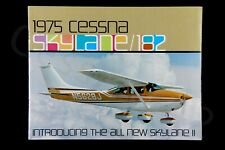 CESSNA Factory 1975 OEM Brochure Skylane 182 Vintage 10 Pages USA Gift Perfect