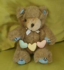 Gibson Greetings Teddy Hugglesbie Bear with book valentine hearts jointed plush