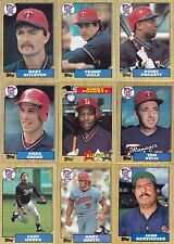 1986-87-88-89-90 Topps Twins master team sets with traded Mint razor sharp