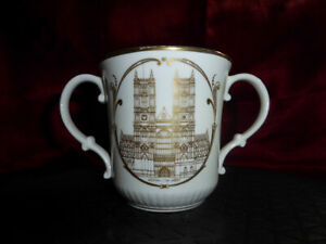 Royal Doulton 25th Anniversary QUEEN ELIZABETH II Westminster Abbey LOVING CUP