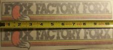 VINTAGE MOTOCROSS Fox Factory Forx decal stickers YZ CR RM KX 125 250 400 Works