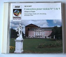 MOZART . CONCERTOS POUR VIOLON N° 3 & 5 . STANG . KORCHIN . LOFFE . TITOV . CD