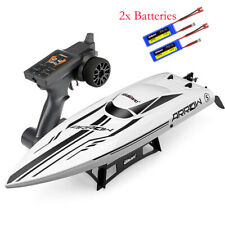 Udirc Rc Racing Boat Brushless 50km/h Electronic Boat Toys Gifts w/ 2 Batteries