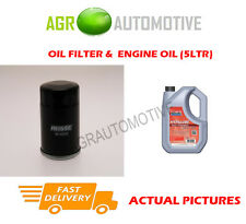 PETROL OIL FILTER + FS 5W40 ENGINE OIL FOR NISSAN MICRA 1.0 65 BHP 2003-05