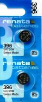 396 RENATA SR726W (2 piece) WATCH BATTERY New packaging Authorized Seller