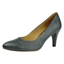Women's Caprice Black Metal Leather Court Shoes Size UK 7.5/EU 41 RRP: £65.00
