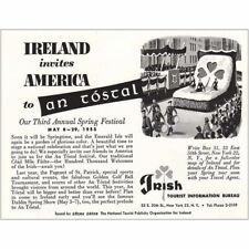 1955 Ireland: Ireland Invites American to an Tostal Vintage Print Ad