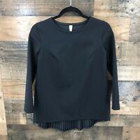 Lululemon Women's Black Rare Pleat On Long Sleeve Top Size 4