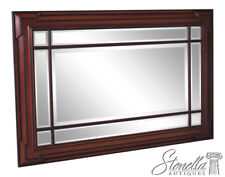 46041EC: Large Multi Panel Beveled Glass Custom Made Mahogany Mirror