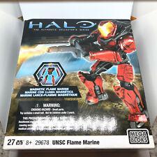 Mega Bloks Halo Figures UNSC Flame Marine Set #29678 Collectos Series