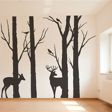 Deer in the Forest Wall Decal Sticker - 24x100