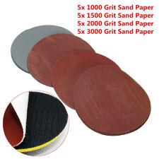 5Pcs Papiers de verre abrasifs imperméables 28 x 23cm P600 2xP1000 P1500 P2000