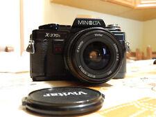 fotocamera MINOLTA X-370 S con ob. Vivitar 28mm  1/2,8