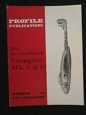 Profile Publications #48 de Havilland Vampire Mk 5&9 - Color Profiles, BW Photos
