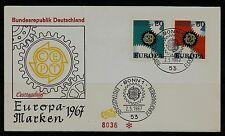 BRD FDC MiNr 533-534 (2) Europa (CEPT) 1967 -Vereinigung-Staatenbund-Politik-